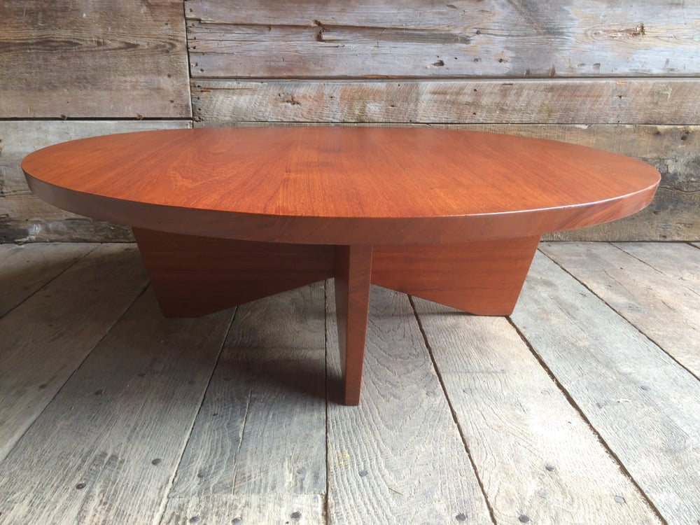 George Nakashima coffee table conservation effort for a prominent