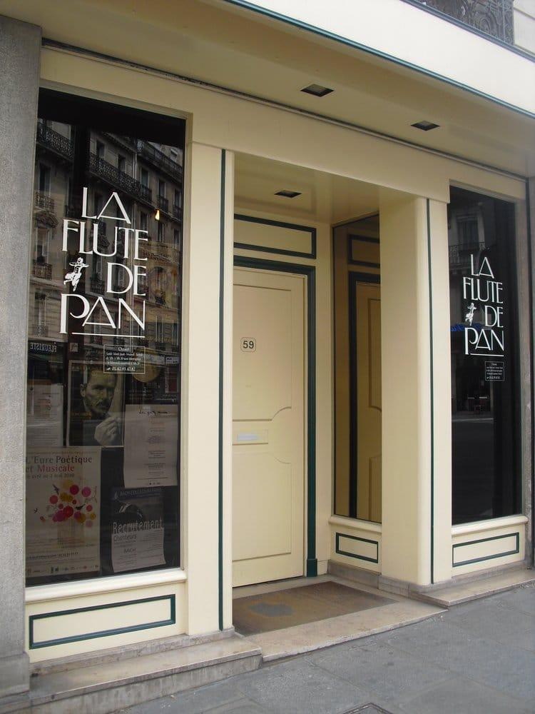 la fl te de pan musical instruments teachers 53 rue de rome saint lazare grands magasins. Black Bedroom Furniture Sets. Home Design Ideas