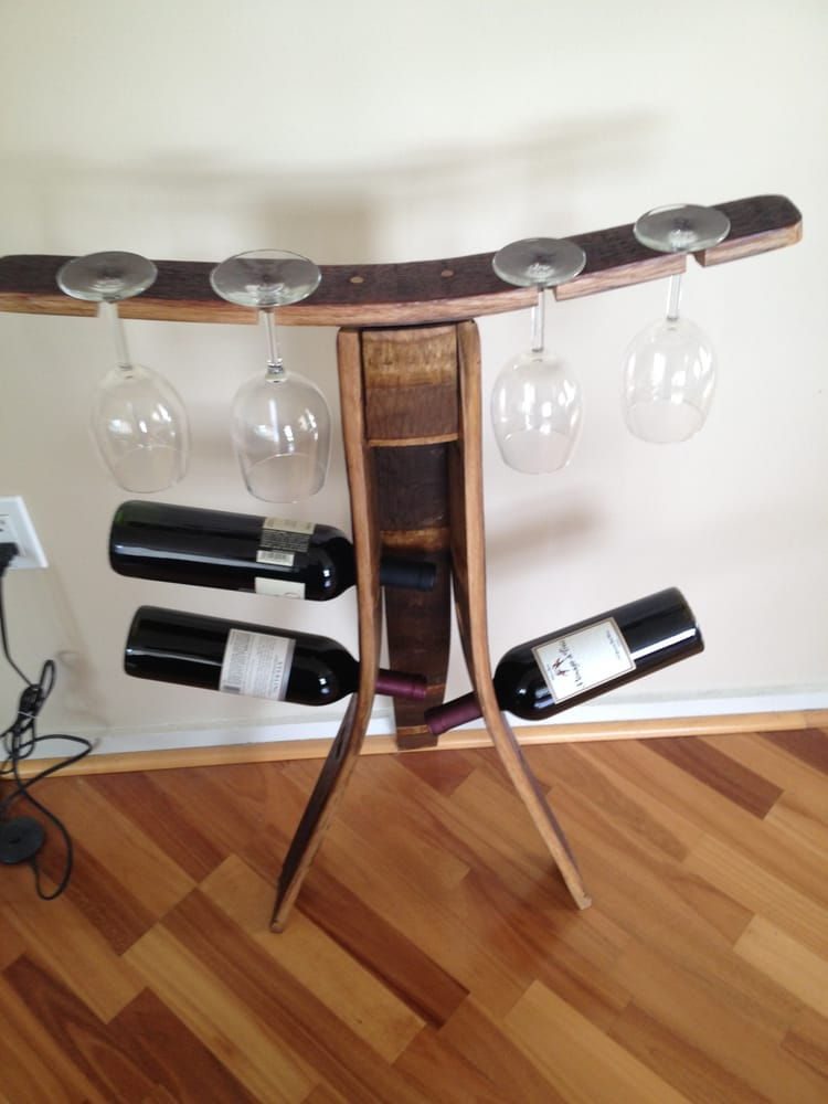 Wine Rack Made Out Of Recycled Wine Barrel Staves Yelp