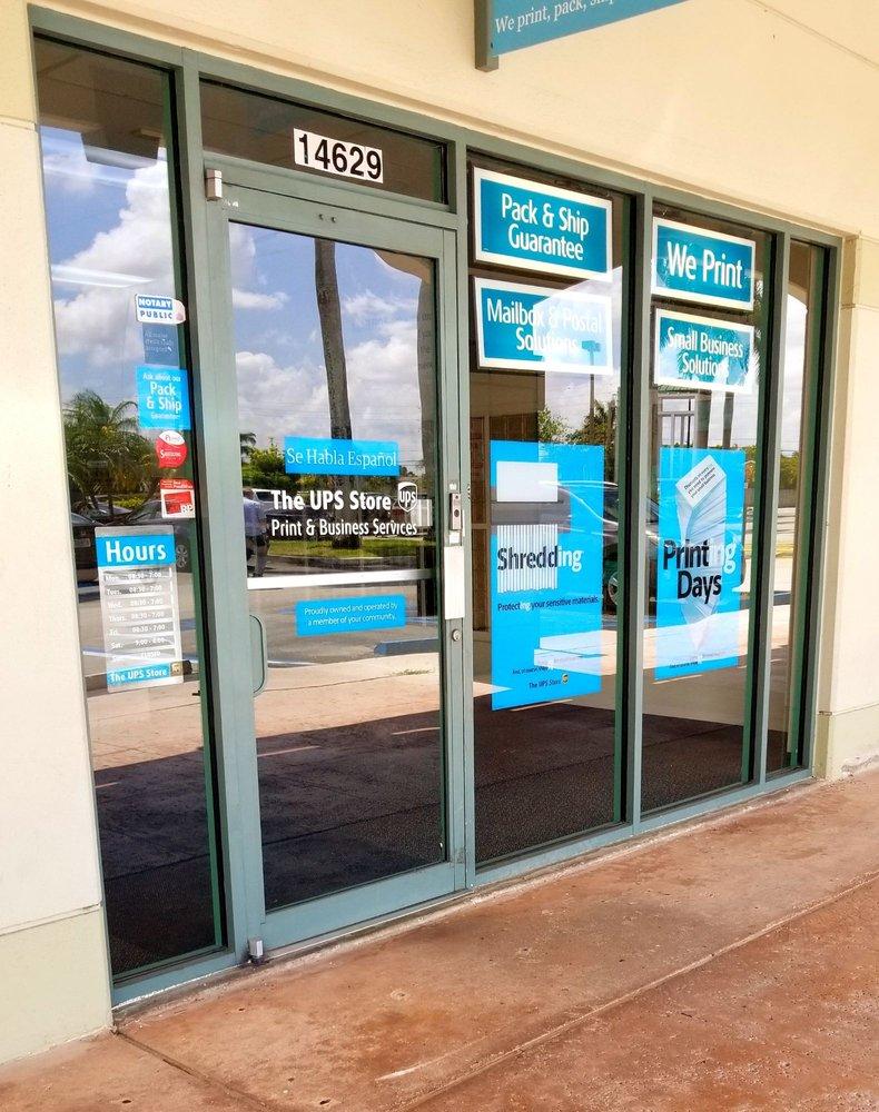 The UPS Store: 14629 SW 104 Street, Miami, FL