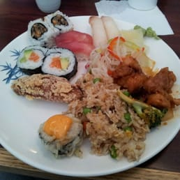 Sho Chiku Sushi - Pomona, NY, United States. Selections from the lunch buffet