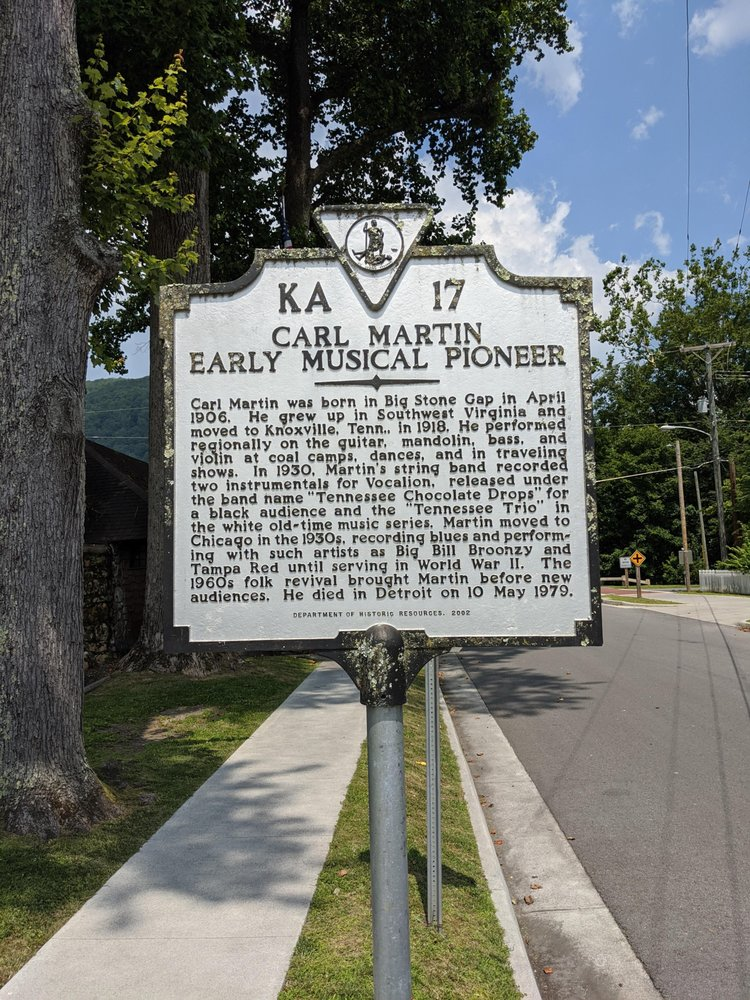 Karl Martin Historical Marker: 570 Shawnee Ave E, Big Stone Gap, VA