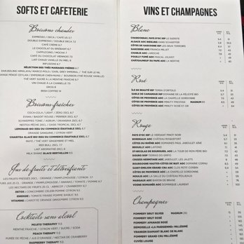 Cafe Le Brebant Menu