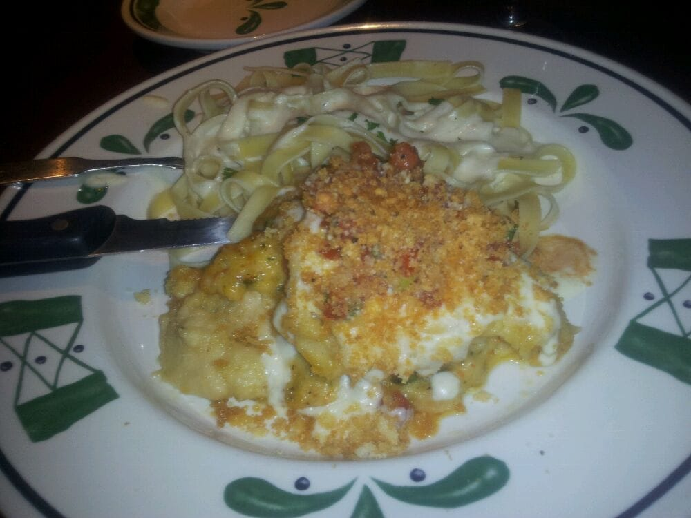 Parmesan Crusted Stuffed Chicken With Fettuccine Alfredo Yelp