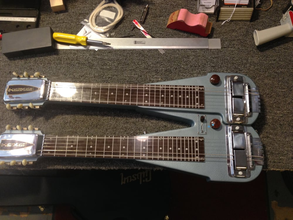 a vintage double neck rickenbacker lap steel which needed to be rewired yelp. Black Bedroom Furniture Sets. Home Design Ideas