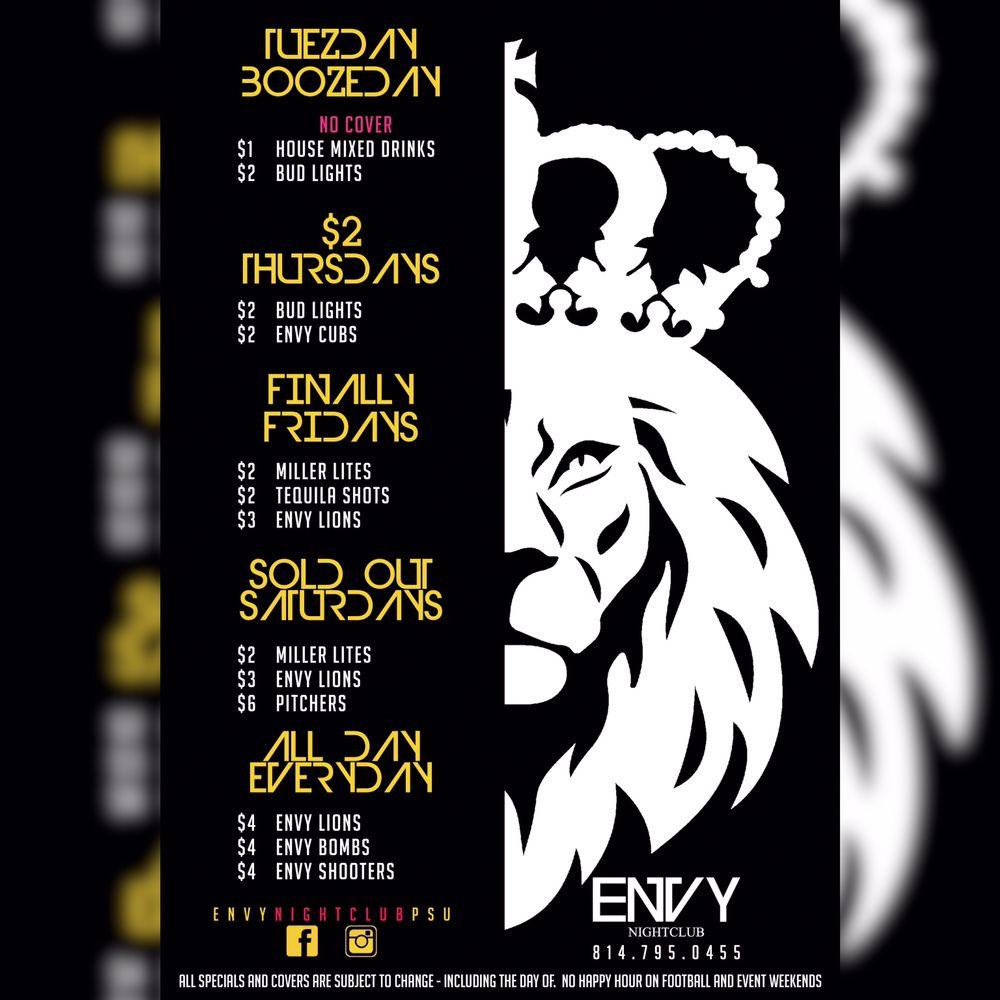 Envy Nightclub: 420 E College Ave, State College, PA
