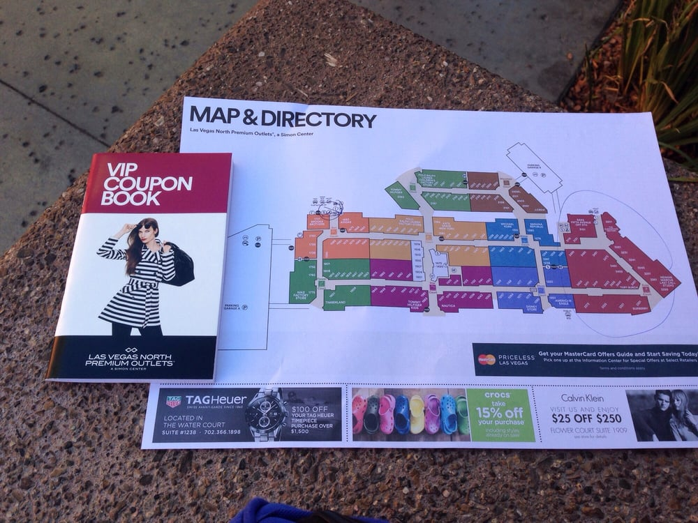 Get your VIP coupon book at Simon Guest Services and map and