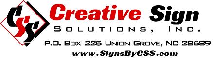 Creative Sign Solutions: 563 Rimrock Rd, Harmony, NC