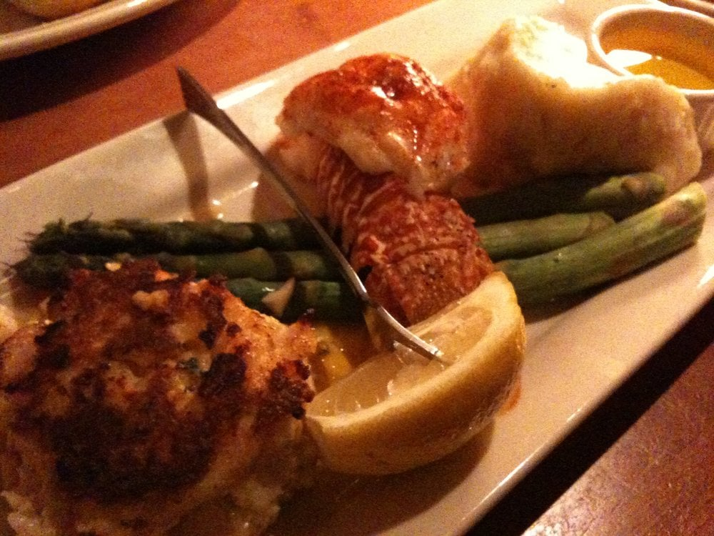 Lobster duo lobster tail lobster and shrimp cake yelp for Mitchell s fish market birmingham