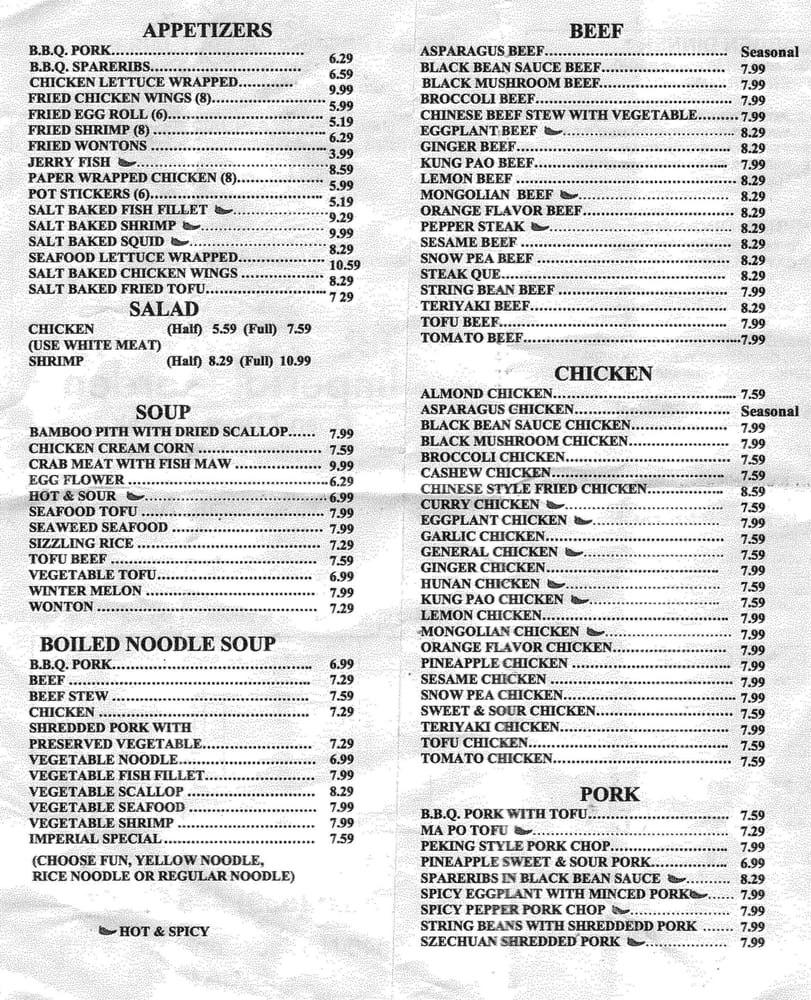 Imperial Garden Restaurant Fresno Ca