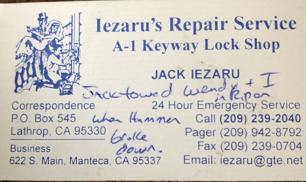 A-1 Keyway Lock Shop: 541 W Yosemite Ave, Manteca, CA