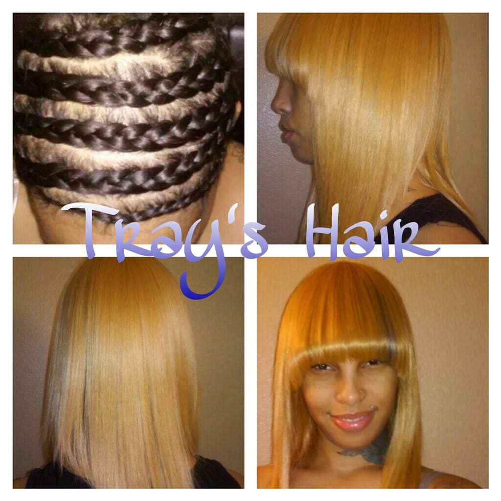 Before To After Weave Closure No Hair Left Out With Bang Area Cut