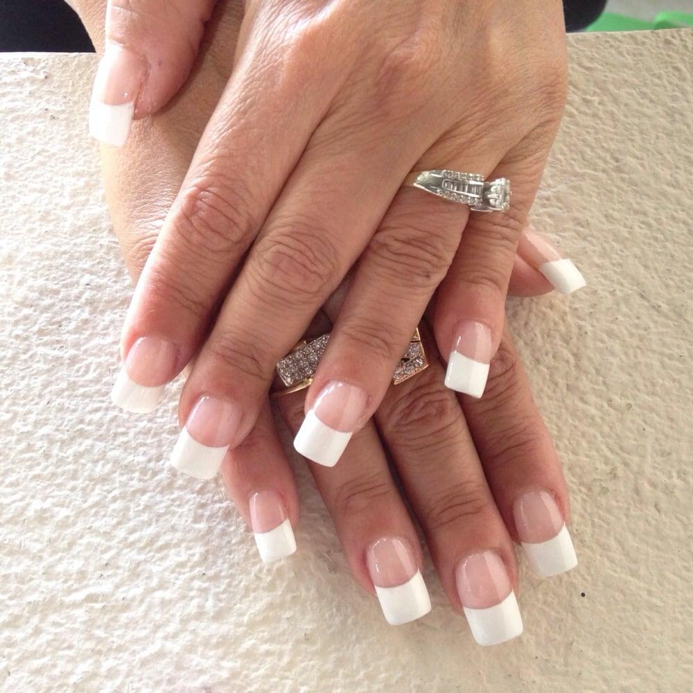 pink & white liquid gel nails - yelp