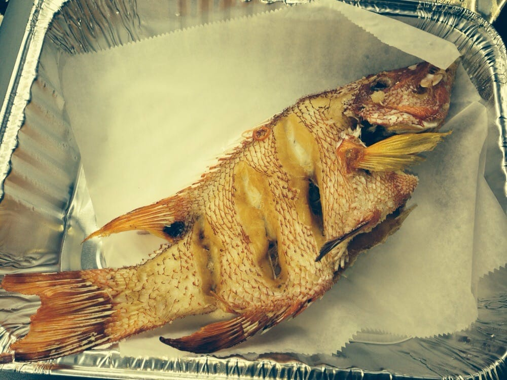 Deep fried hogfish snapper yelp for Pops fish market