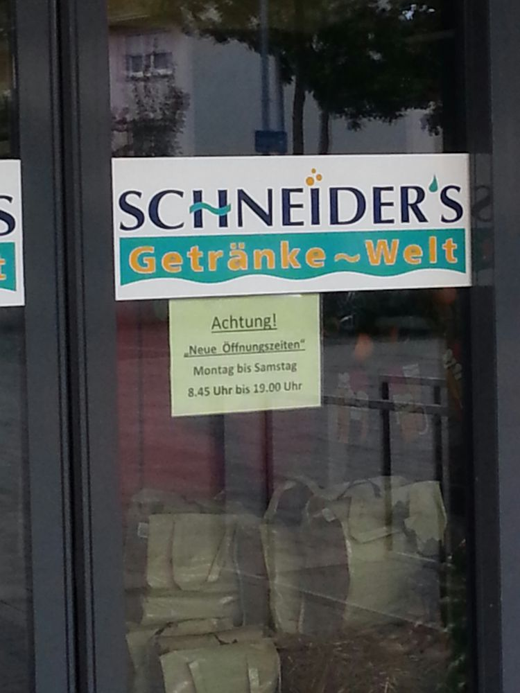 Schneider\'s Getränkewelt Getränke Abholmarkt - Rheinstr. 120 ...