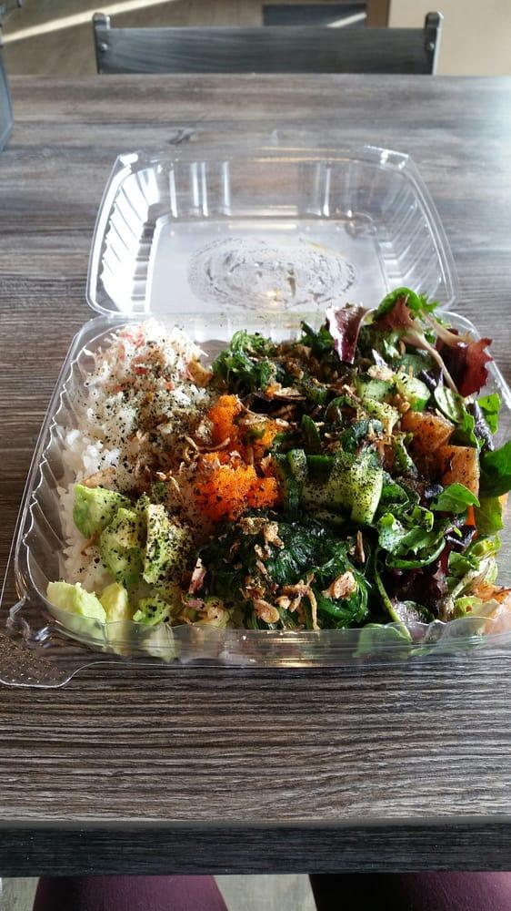 Photo of ahipoki bowl - Temple City, CA, United States. Large half and half. Huge portion!