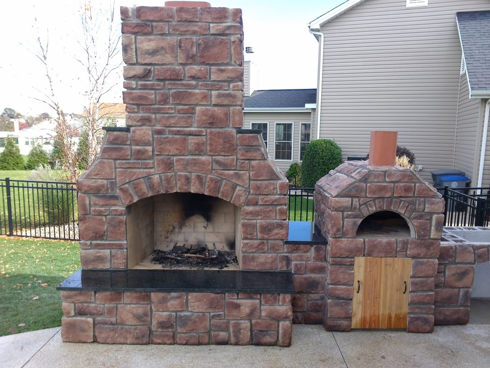 Craftmasters Outdoor Fireplace Kit With A Craftmasters Pizza Oven Kit Yelp