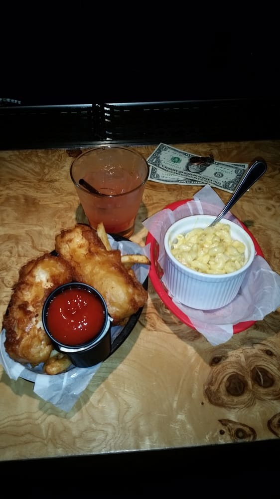 Fish/chips & Lobster mac/cheese. Good food. Go figure. - Yelp