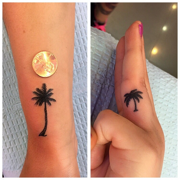 Little Palm Tree Tattoos Done By JENNY.