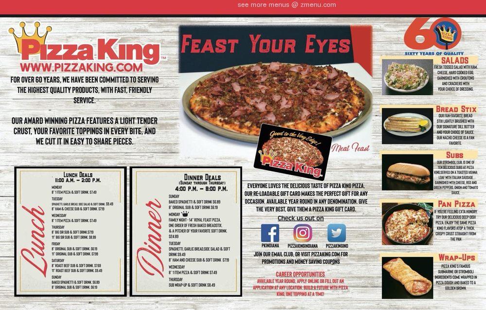 Pizza King: 167 N Jefferson St, Berne, IN