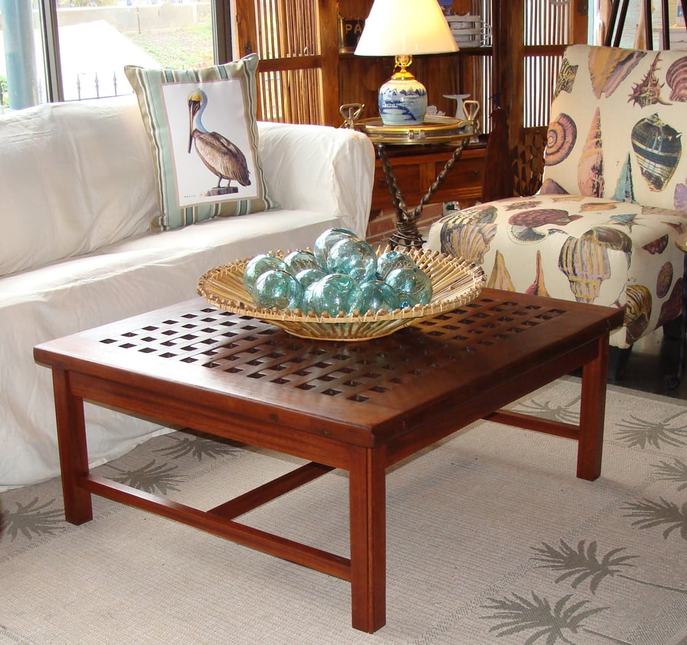 Grate Teak Coffee Table: Coffee Table Made Using An Authentic Teak Ship's Hatch