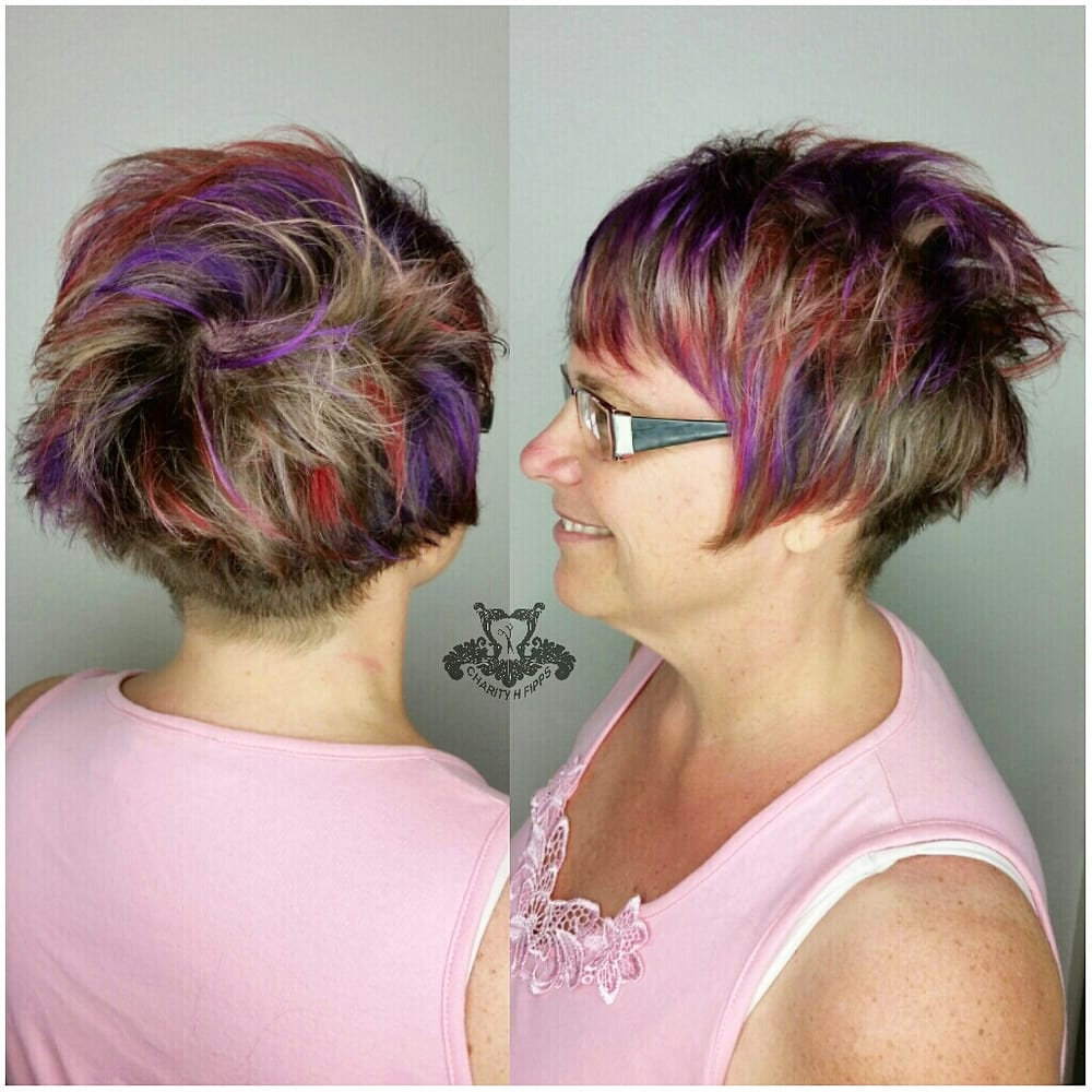 Bird Of Paradise Hair Color With Shaved Stacked Wedge Haircut Yelp