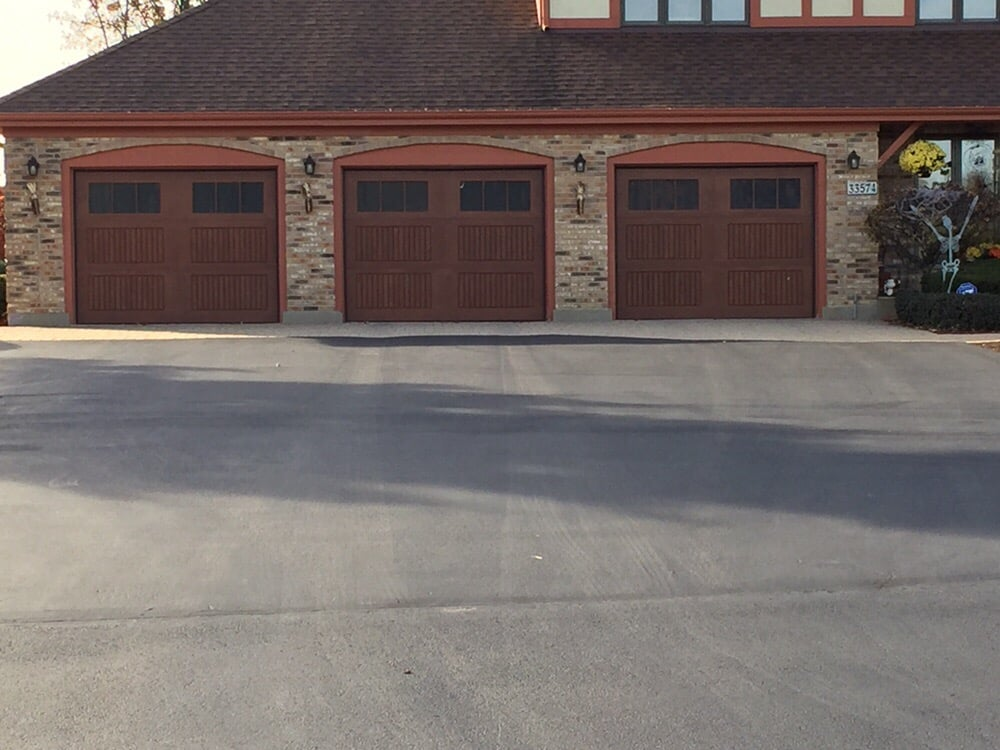 Wayne dalton fiberglass 9800 sonoma panel stained honduran mahogany yelp - Wayne dalton garage door panels ...