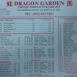 Dragon Garden Chinese Restaurant 11 Reviews Chinese 603a Mcmeans Ave Bay Minette Al