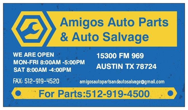 Amigos Auto Parts & Auto Salvage: 15300 Fm 969, Austin, TX