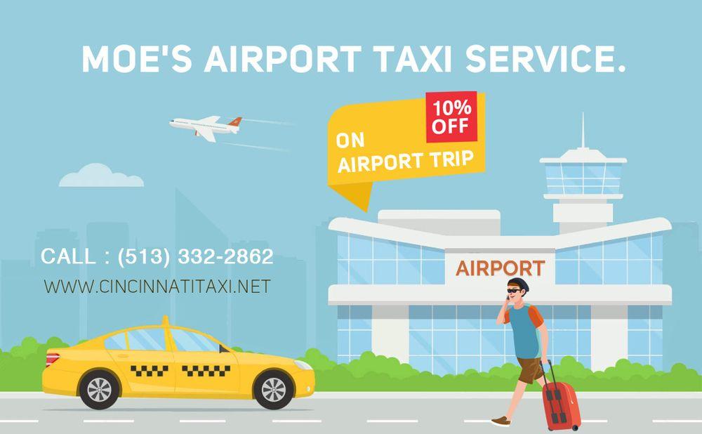 Moe's Airport Taxi Service: 525 Vine St, Cincinnati, OH