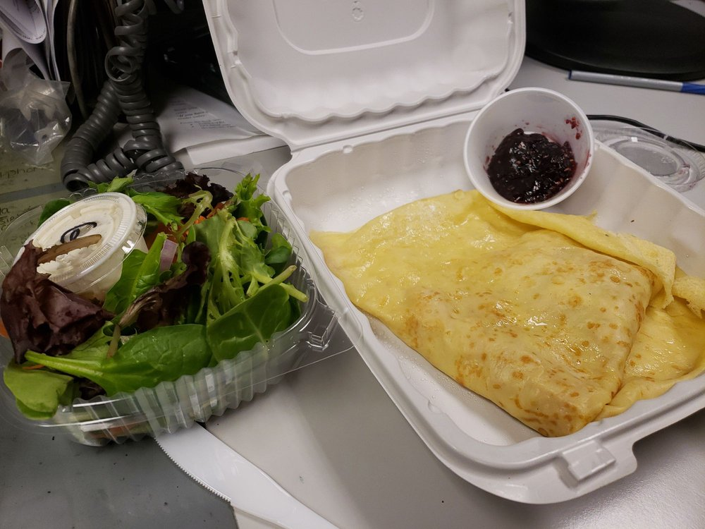 Food from The French Press Cafe & Creperie