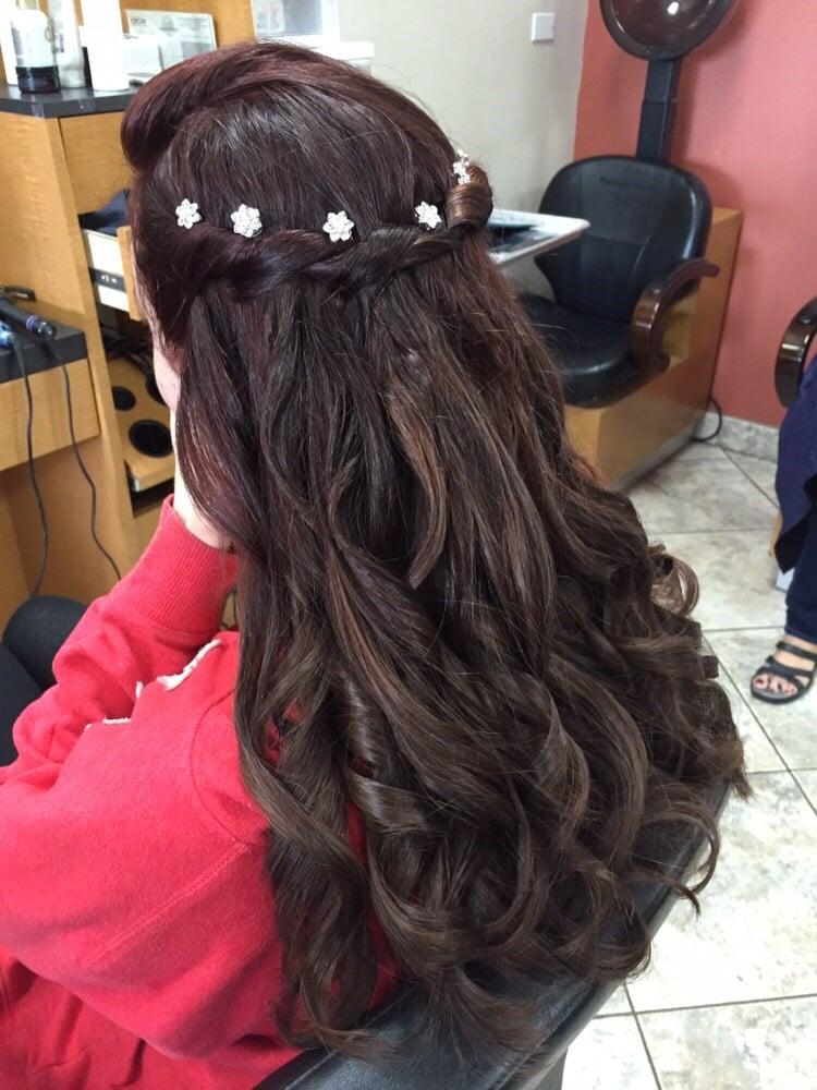 Beautiful prom hairstyle - Yelp