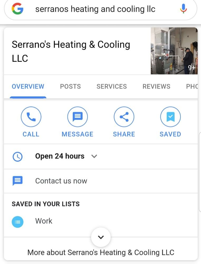 Serrano's Heating & Cooling LLC