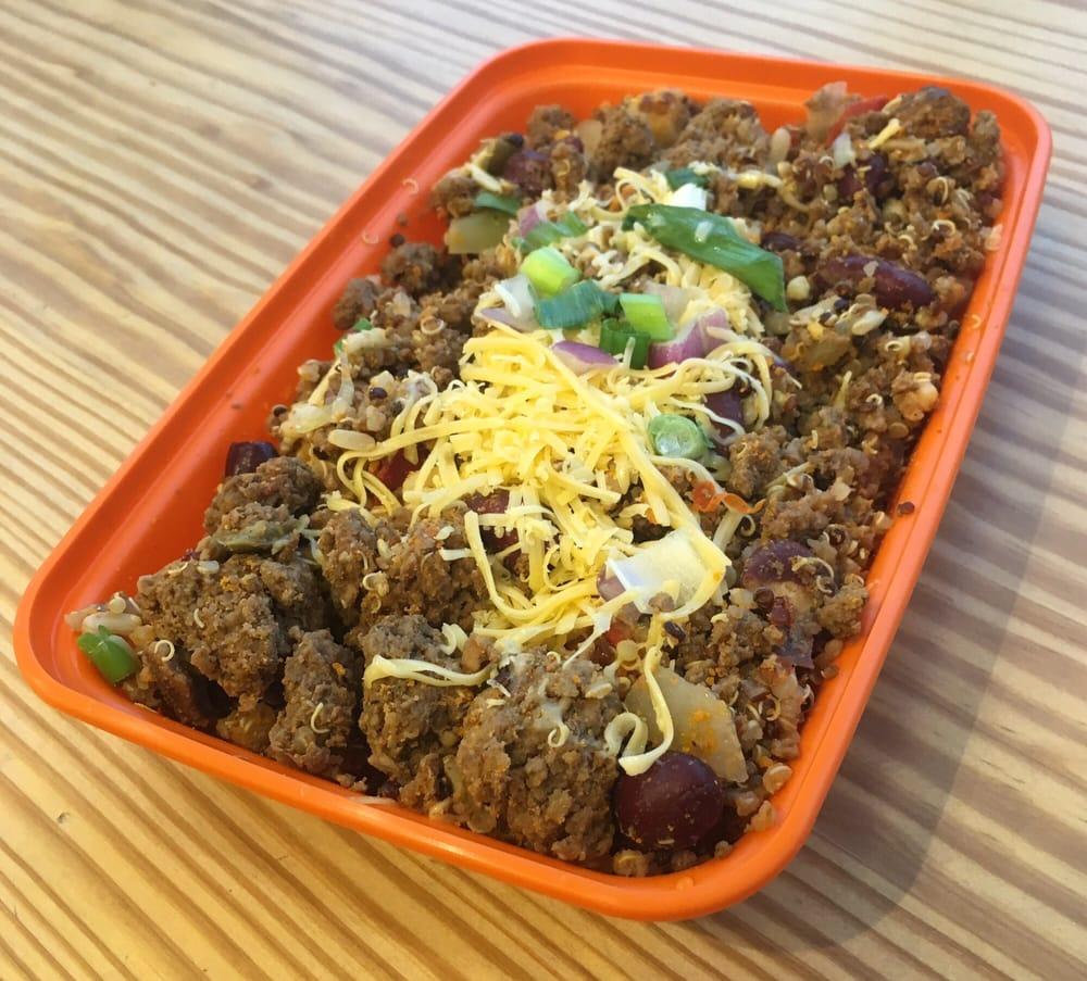 Bison Quinoa Hash Ground Bison Organic Red Quinoa Organic Red Kidney Beans Organic Brown
