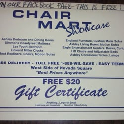Superieur Photo Of Chair Mart Showcase   Nevada, MO, United States. Become A Fan