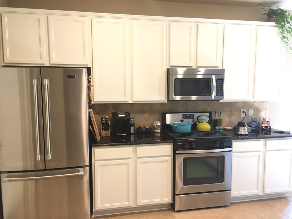 Photo of Gutierrez Painting - Fort Worth, TX, United States. Kitchen cabinets in