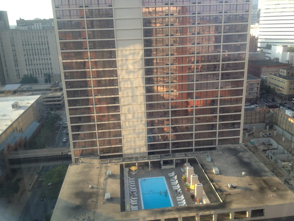 View From 2009 Of Millennium Hotel And Pool Which Was Really Busy