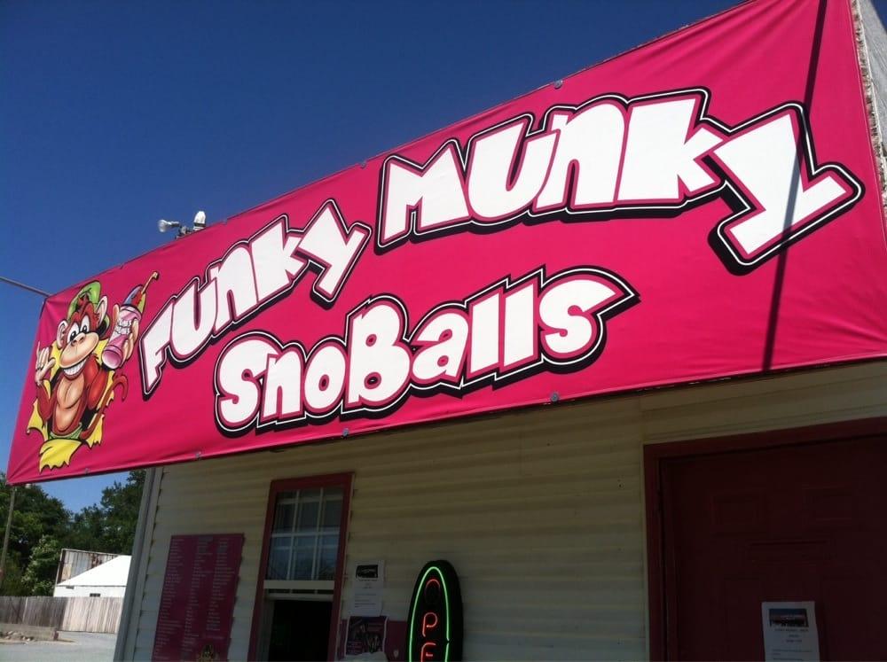 Funky Munky Snoballs: 166 N Raleigh Rd, Angier, NC