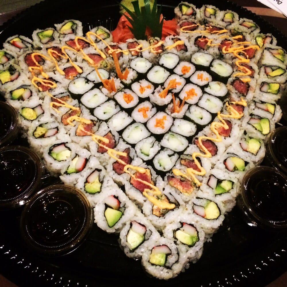 Quot Heart Quot Sushi Platter Yelp