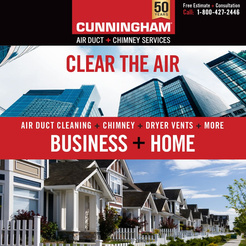 Cunningham Air Duct + Chimney Services: 869 Sylvan Ave, Bayport, NY