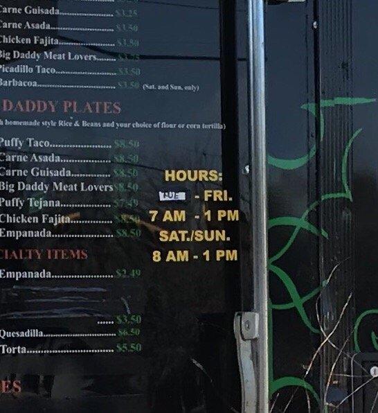 Big Daddy's Tacos - 34 Photos & 16 Reviews - Food Trucks - 1701