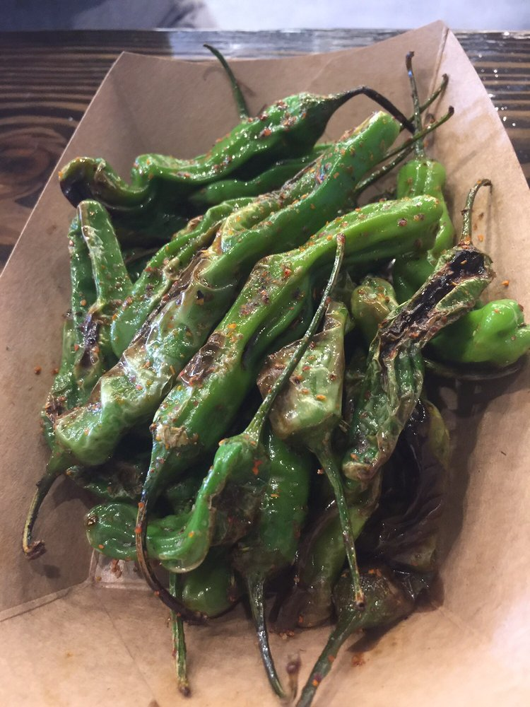 Made To Order Seasoned Shishito Peppers A Little Heat 8