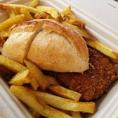 Photo of Hapuku Fish Shop - Oakland, CA, United States. Fish sandwich and curry fries