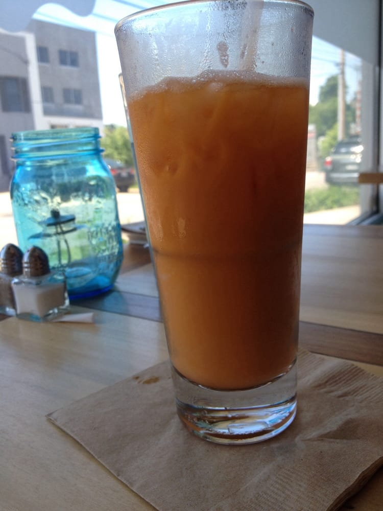 Bangkok iced tea it 39 s made with thai iced tea which is for Food bar food harrisonburg virginia