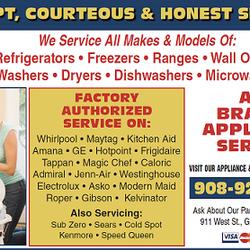 All Brands Appliance Service Appliances Amp Repair 911 W