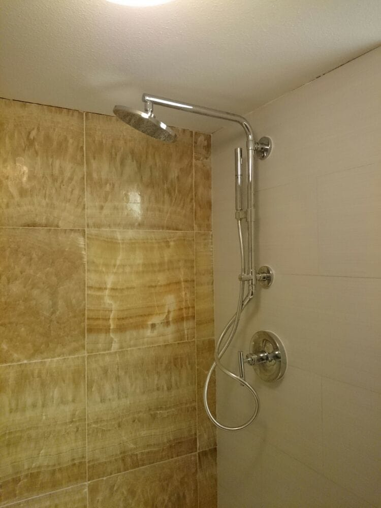 Kohler shower valve install with extended shower head and handheld ...