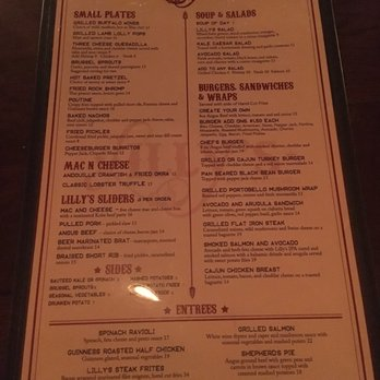 Lilly S Craft And Kitchen Menu