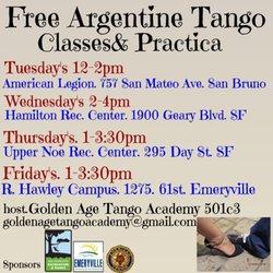 Milonga La Paz Tango Club - Dance Studios - 401 Van Ness Ave, Civic