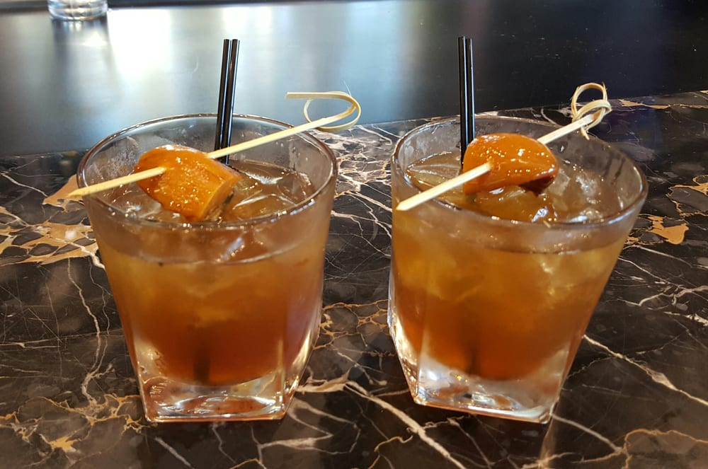 Delicious burnt peach old fashioned. - Yelp