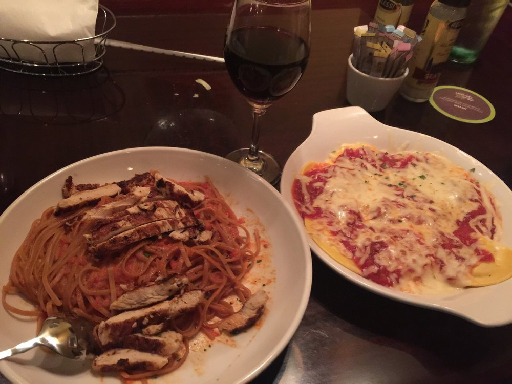 Create my own pasta grilled chicken whole linguine Olive garden italian restaurant new york ny